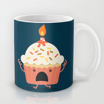 Cupcake on fire Mug by Budi Satria Kwan