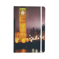 "Laura Evans ""Westminster at Night"" Yellow Multicolor Everything Notebook"