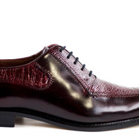 Dino Ostrich and Italian Calf Oxford by Belvedere