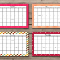 2015 Printable Calendar: INSTANT DOWNLOAD