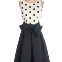 ModCloth Vintage Inspired Long Sleeveless A-line Spot-On Performance Dress