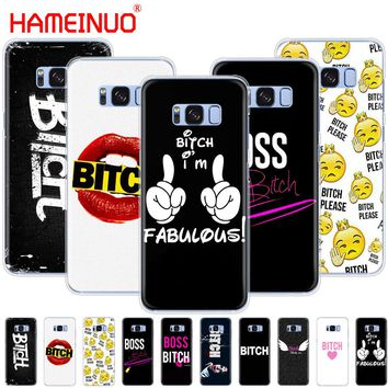 HAMEINUO Boss Bitch mode on pink cell phone case cover for Samsung Galaxy E5 E7 Note 3,4,5 8 ON5 ON7 grand G530 2016