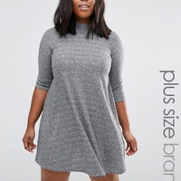 New Look Plus Rib Swing Dress at asos.com