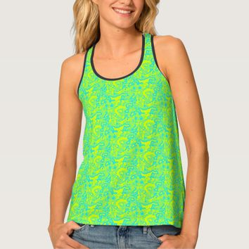 Green Cyan Mash up Tank top