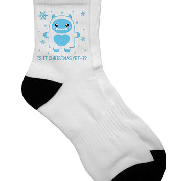 Is It Christmas Yet - Yeti Abominable Snowman Adult Short