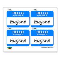 Eugene Hello My Name Is - Sheet of 4 Stickers