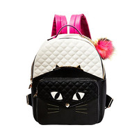 CATS MEOW BACKPACK: Betsey Johnson