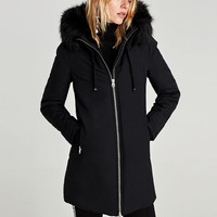 WATER REPELLENT PARKA WITH HOOD