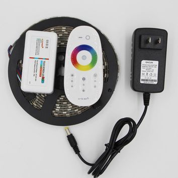 DC12v 5M LED Strip light 5050 SMD RGB 300 Led Tape non ip68 tube waterproof Led Stripe Touch Controller 12V 3A Power Adapter