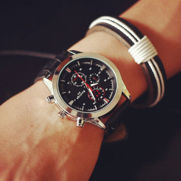 Racing Drivers Casual Sports Leather Watch Unique Simple Watches + Gift Box-471
