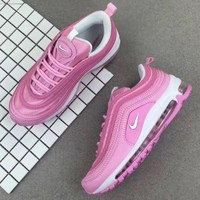 Nike Air Max 97 Fashion Casual Women Pink Running Sneakers Sport Shoes I