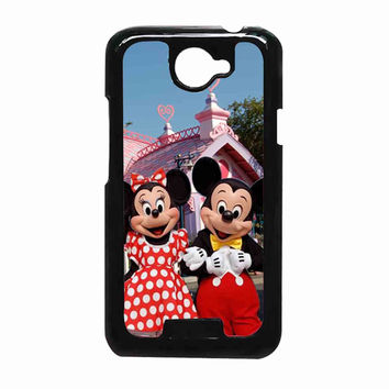 mickey and minie mouse 1ad97a8f-6ac6-410a-9bcf-8e4fee4cfc01 FOR HTC One X CASE *RA*