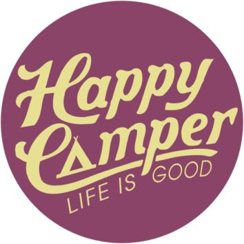 Happy Camper Sticker|Life is good
