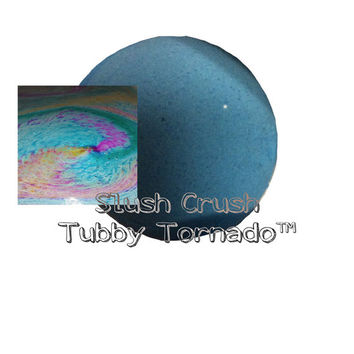 Slush Crush Tubby Tornado™ bath bomb, color exploding!