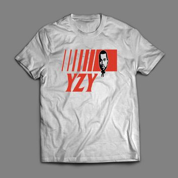 "KANYE WEST ""YZY"" KFC LOGO PARODY CUSTOM ART T-SHIRT"