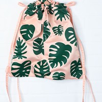 ban.do: got your back drawstring backpack - monstera - ShopRiffraff.com