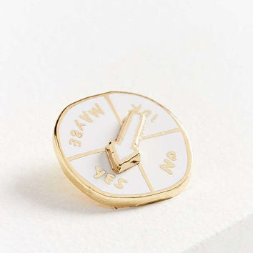 Adam J. Kurtz Indecisive Spinner Pin | Urban Outfitters