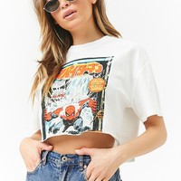 Spiderman Cropped Graphic Tee