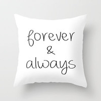 Forever & Always Throw Pillow by Ian Layne