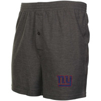 New York Giants Grassroots Knit Boxer Shorts - Gray