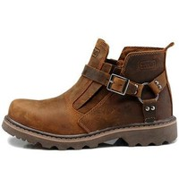 New Unisex Motorcycle Boots Genuine Leather Men's Ankle Boots High Quality Breathable