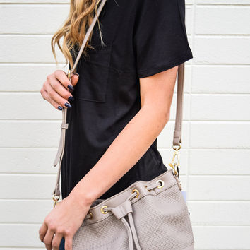 Brooklyn Crossbody Bucket Bag