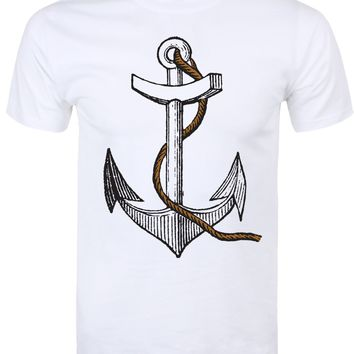 Anchor T-Shirt - Mens White
