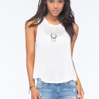 Bozzolo Slub Womens Tank White  In Sizes