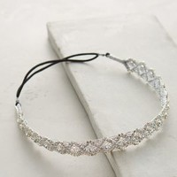 Diamond Glimmered Headband by Deepa Gurnani Silver One Size Hair