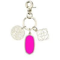 Shirley Charm Key Chain in Neon Pink - Kendra Scott Jewelry
