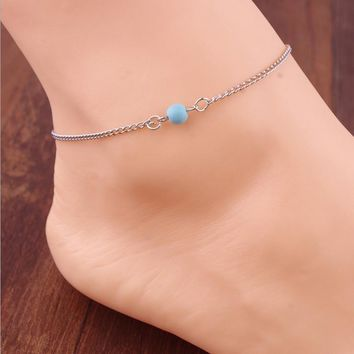 Cute Shiny Stylish Jewelry New Arrival Ladies Sexy Gift Vintage Simple Design Simple Blue Accessory Anklet [6042903553]
