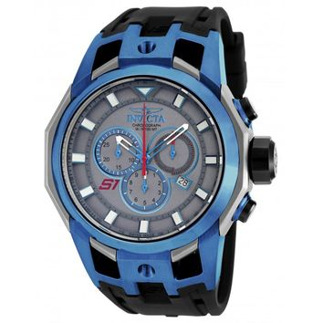 Invicta 16814 Men's S1 Rally Blue Steel & Grey Titanium Chronograph Black Strap Watch