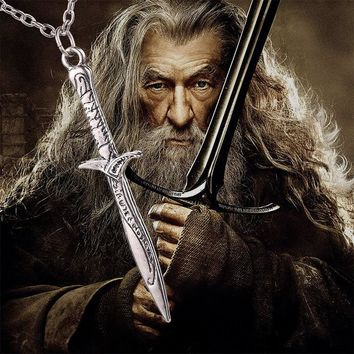 The Hobbit Sword Necklace  Bilbo Baggins Sting Sword Necklace Lord Of The Rings