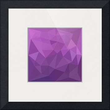 """Plum Purple Abstract Low Polygon Background"" by Aloysius Patrimonio"