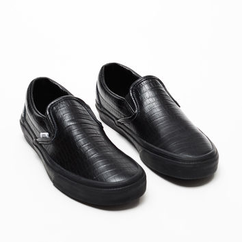 Opening Ceremony Vans Crocodile Embossed Leather Slip-Ons - WOMEN - Opening Ceremony