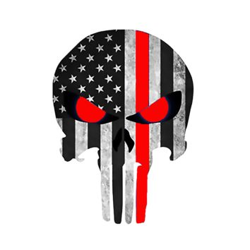 Thin Red Line - Honor Your Firefighter -Punisher Decal