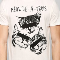 Poolhouse Meowge-A-Trois Tee - Urban Outfitters