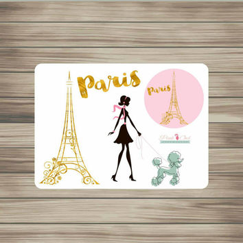 Paris Eiffel Tower Planner Sticker Set for Erin Condren Filofax and more