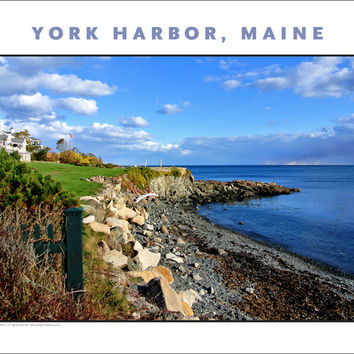 Looking Out to Sea at York Harbor, Maine #854