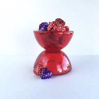 Vintage Mikasa Eclipse Red Glass Votive Holders
