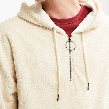 FairPlay Marlee Fleece Half-Zip Hoodie Sweatshirt | Urban Outfitters