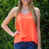 Bright And Cheerful Top-Neon Coral – Simply Dixie Boutique