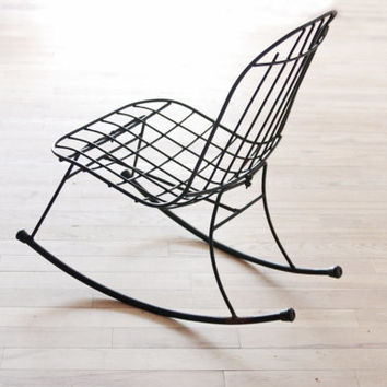 Wire Rocking Chair Wrought Iron Patio Chair