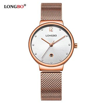 New Fashion Luxury Lovers Men Watches Date Calendar Women Quartz Watch Mesh Band Couples Male Wristwatch Gifts