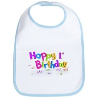 Happy 1st Birthday Bib> Birthday> abrakadabra