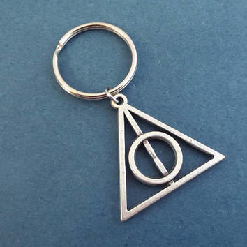 Triangle, Silver, Key ring, Keychain, Birthday, Best friends, Christmas, New year, Gift, Jewelry, Accessory