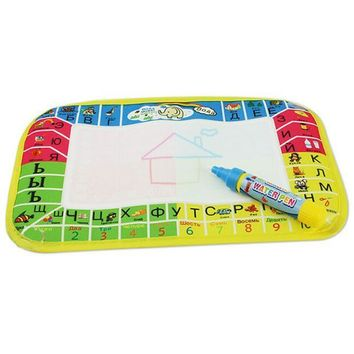 New Water Drawing Painting Writing Mat Board Magic Pen Doodle Gift 25X16.5cm