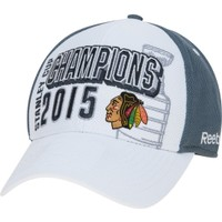 Reebok Men's Chicago Blackhawks 2015 NHL Stanley Cup Champions Flex Hat