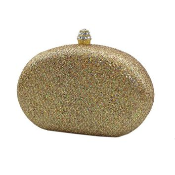 Women Silver Golden Crystal Evening Clutch Bag Women Luxury Brand Bags Wedding Diamond Handbags Bridal Metal Clutches Bag