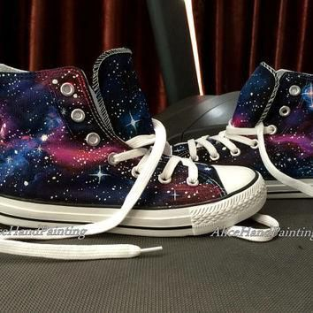 Unique Galaxy Converse Custom Hand Painted Shoes Custom Galaxy,All Star,Custom Painted